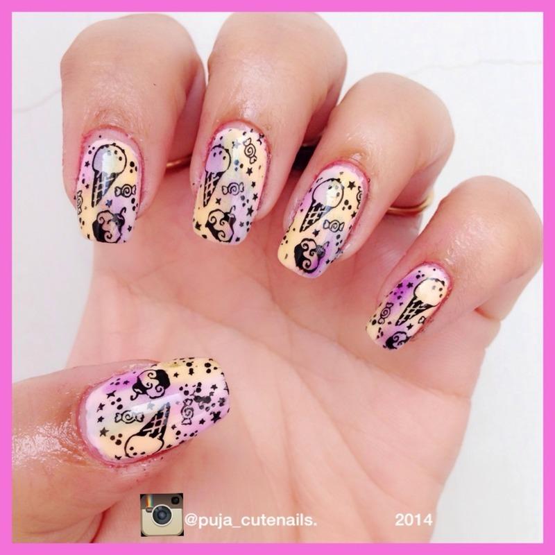 Sweets nail art nail art by Puja Malhotra