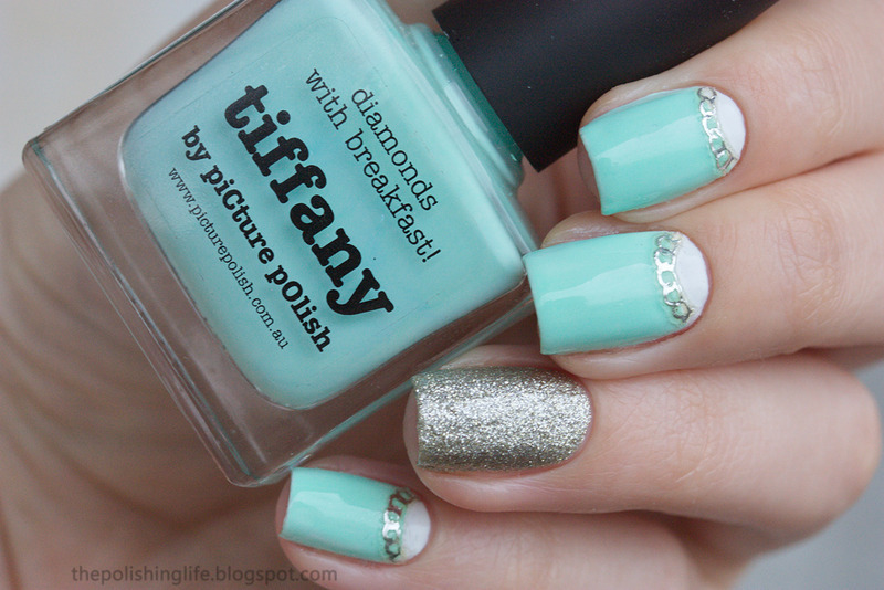 Tiffany Half Moons Nail Art By Alena Belozerova Nailpolis Museum