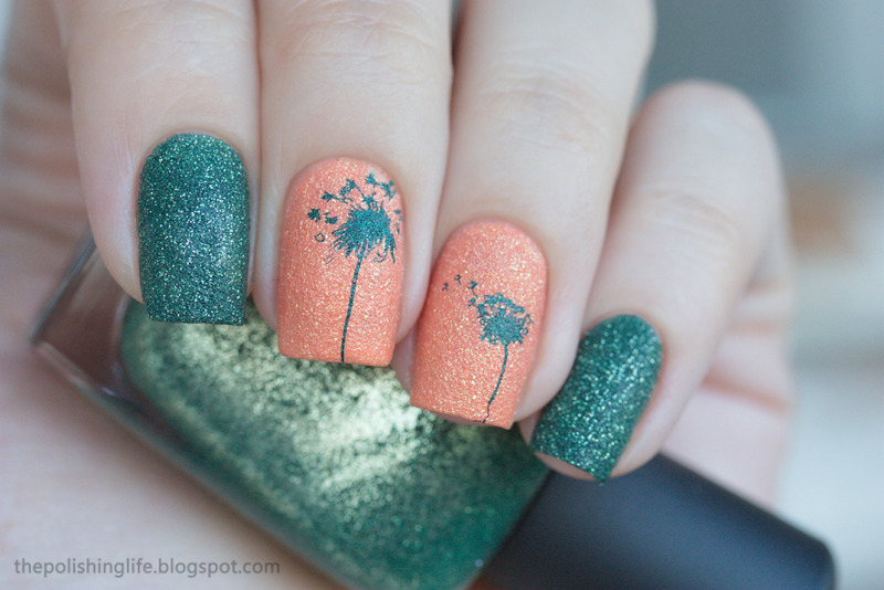 Colours and textures nail art by Alena Belozerova