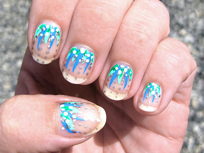Fun with acrylic paint nail art by Vicky