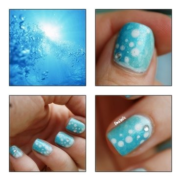 swimming pool nail art by Pmabelle
