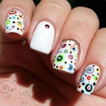Dots on Dots on Dots nail art by Jennifer Collins