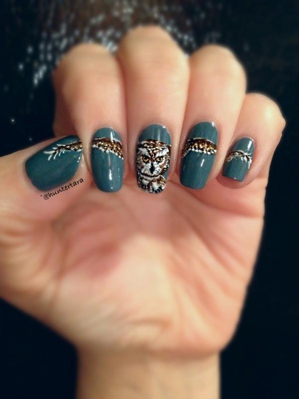 In Flight nail art by Tara Huff
