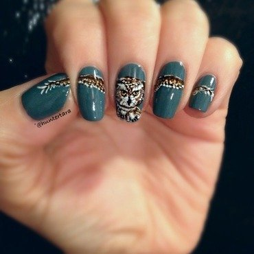 In Flight nail art by Tara Huff