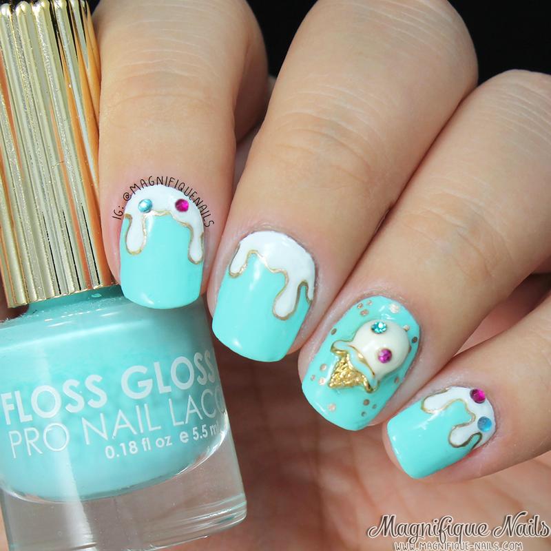 Ice Cream Charm Nails nail art by Ana