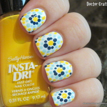 Dotticure inspired by my dog's collar nail art by Nicole