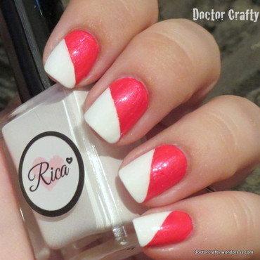 Tape Manicure nail art by Nicole