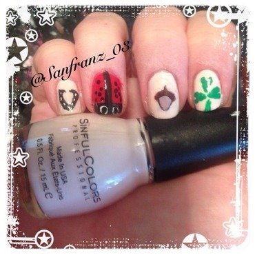 My lucky hand! nail art by Sandy