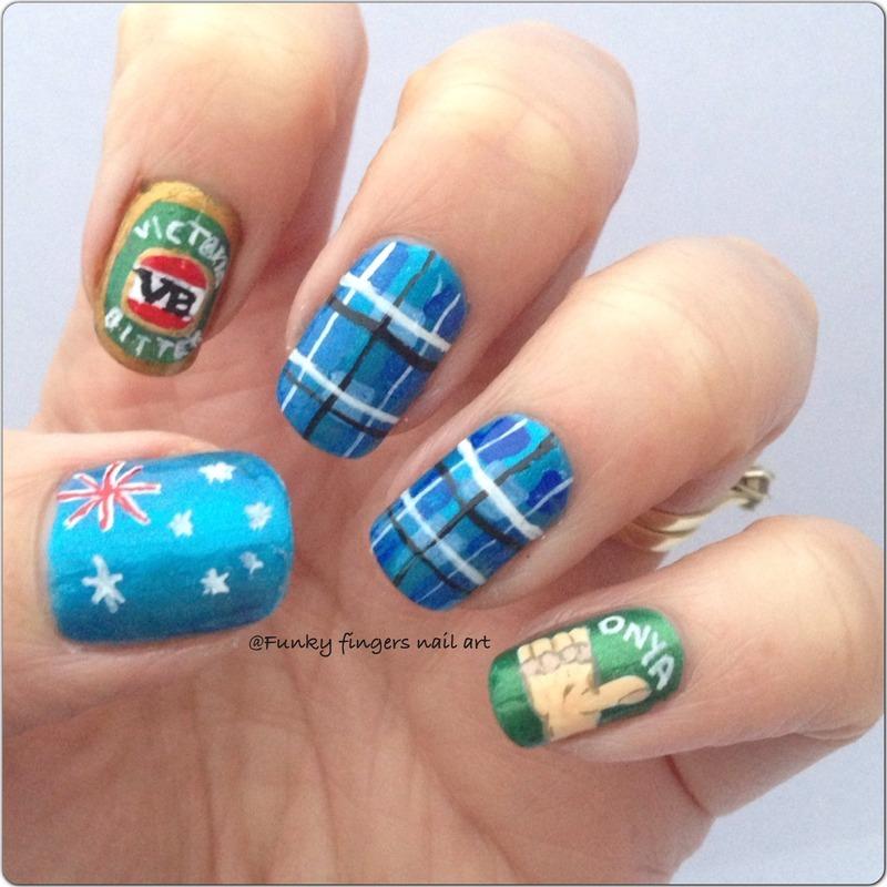 Aussie Nails Nail Art By Funky Fingers Nail Art Nailpolis Museum