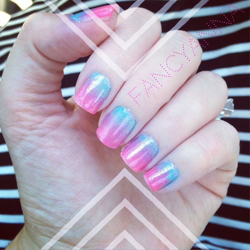 Pink and blue ombre nail art by Anna-Maria D - Nailpolis: Museum of ...