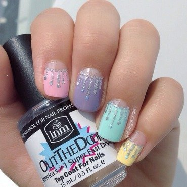 Pastels nail art by Massiel Pena
