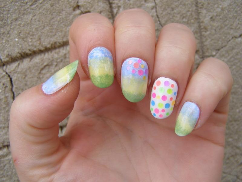 A happy day nail art by Szilvia