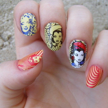 Pop-art nail art by Szilvia