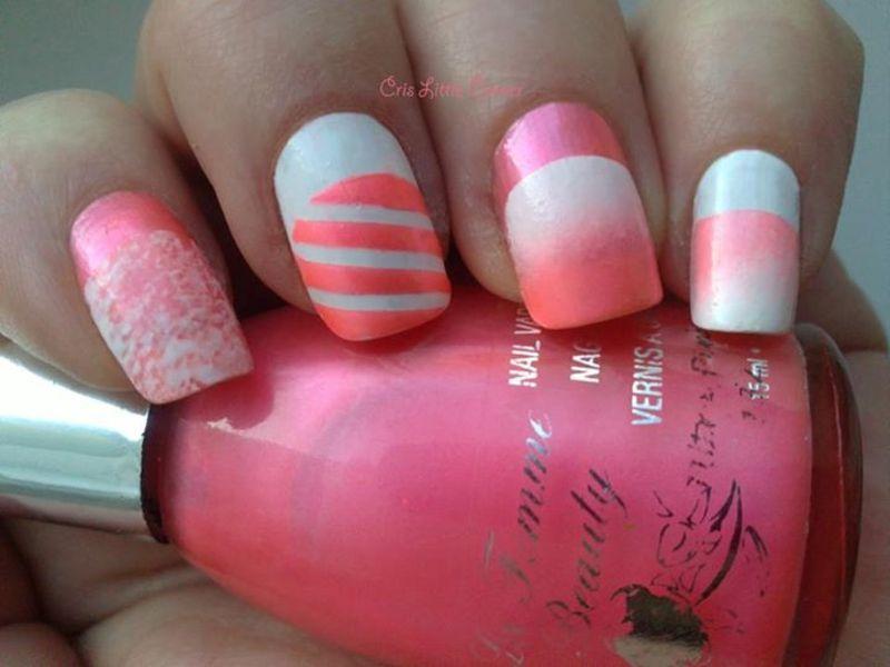 mix mani nail art by Cris'