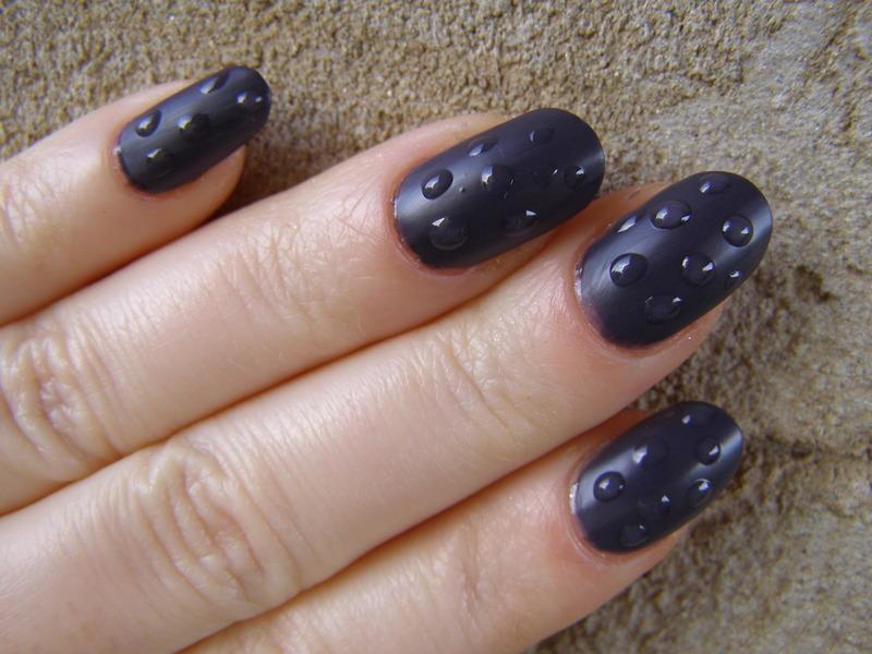 Rain nail art by Szilvia