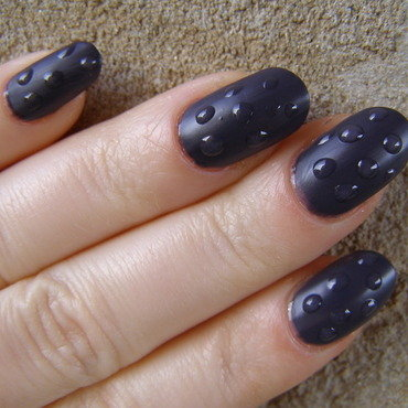 Rain nail art by Szilvia
