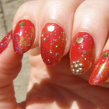 India nail art by Szilvia