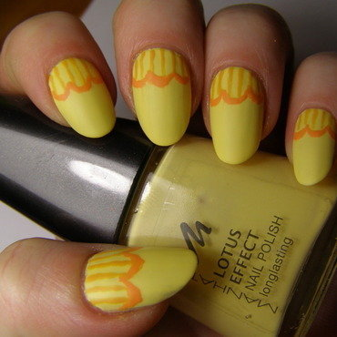 Belle's dress nail art by Szilvia