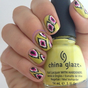 Ikat nails nail art by Anna Malinina