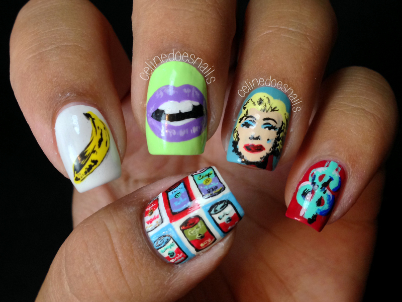 Pop Art Inspired Nail Art nail art by Celine Peña