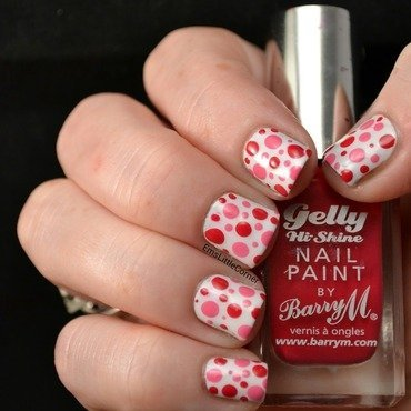 pink dots nail art by Emma B