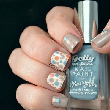 Barry M Pastel Skittlette nail art by Emma B