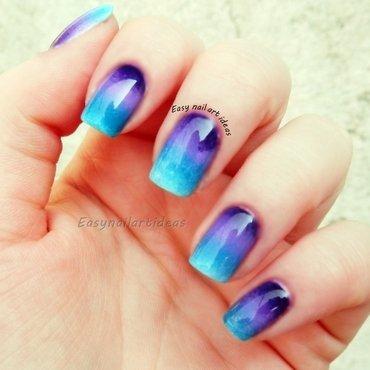ombre nail art by Easynailartideas