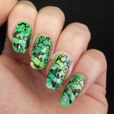 Outdoors Stamping nail art by Squeaky  Nails
