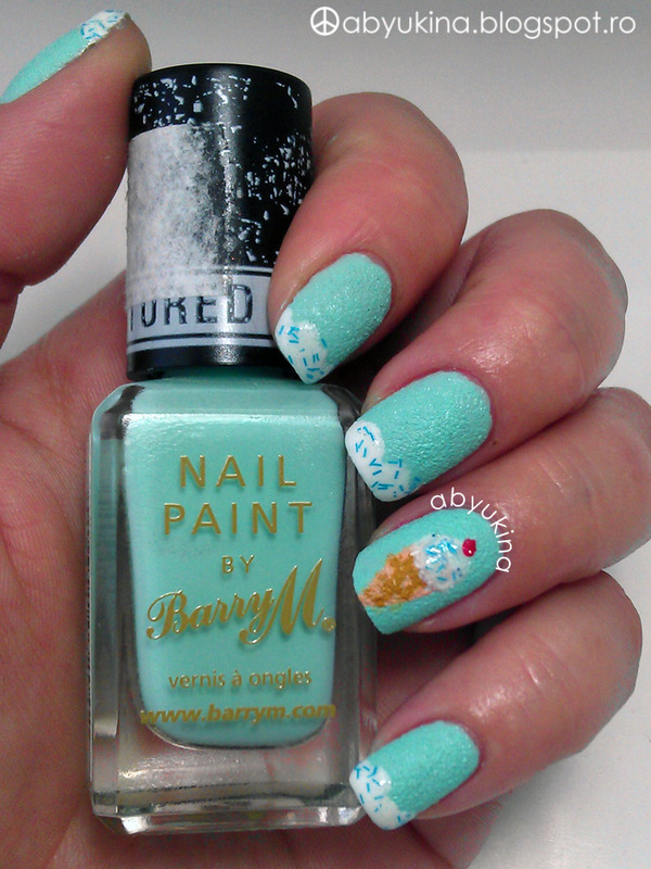 Summer Ice Cream nail art by Aby