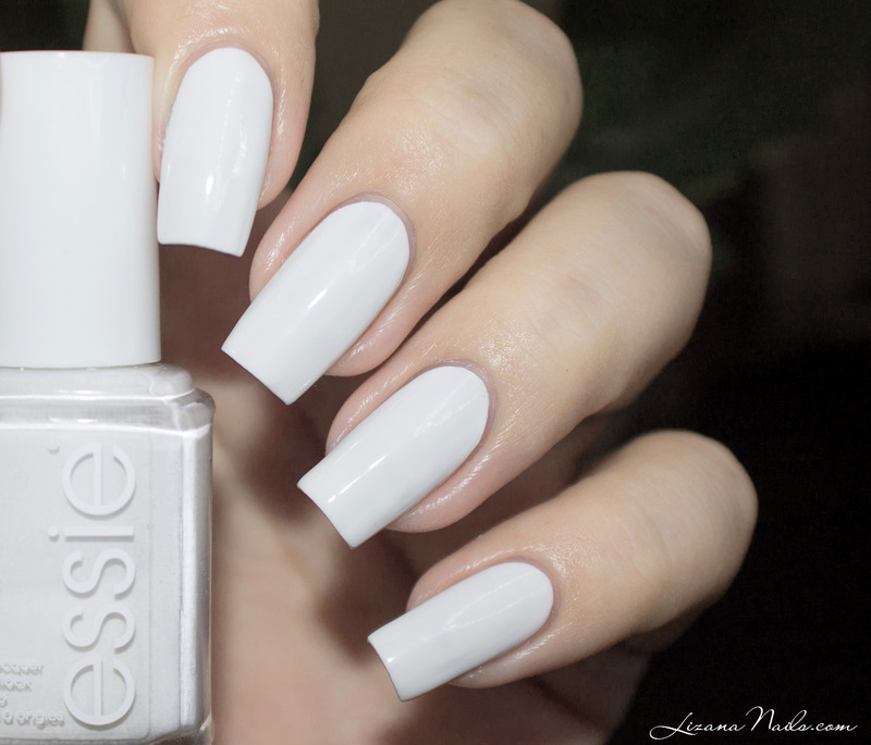 Essie Blanc Swatch by Lizana Nails
