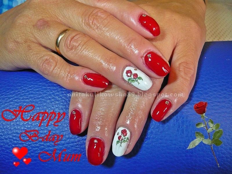 Happy B-day MUM nail art by Anita