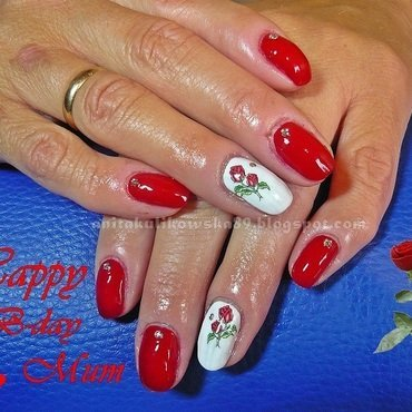 Happy B-day MUM nail art by Anita