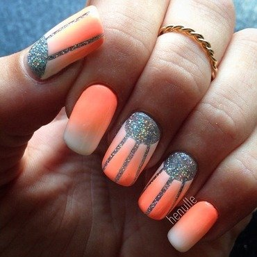 Summer Gradient with Drunk On Holo nail art by Henulle