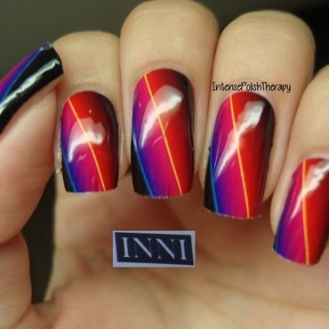 INNI Vinyl decal manicure nail art by IntensePolishTherapy Anita