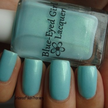 Blue-Eyed Girl Lacquer Monster's Tea at Tiffany's Swatch by IntensePolishTherapy Anita