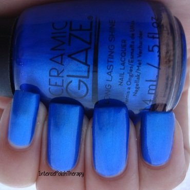 Ceramic Glaze Santorini Blue Swatch by IntensePolishTherapy Anita