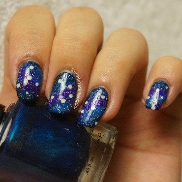 galaxy nails nail art by Stephanie L