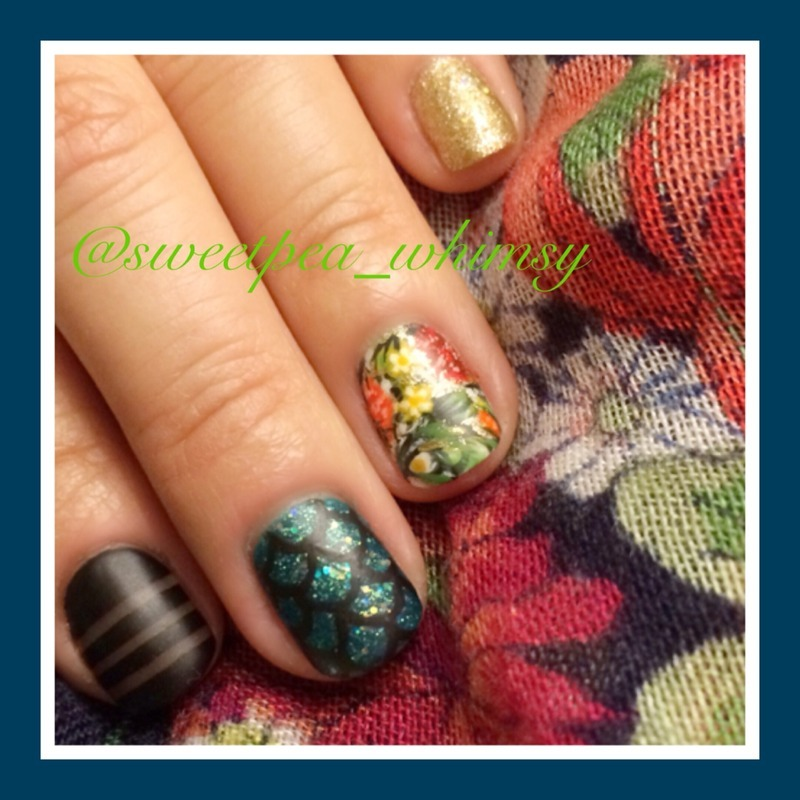 Black Milk Clothing Inspired nail art by SweetPea_Whimsy
