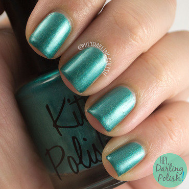 Kitty polish bff teal shimmer swatch 3 thumb370f