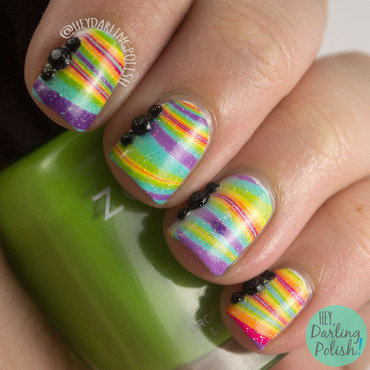 Rainbow watermarble nail art 4 thumb370f