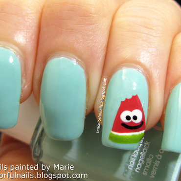 Happy Watermelon Nail Art nail art by Marie