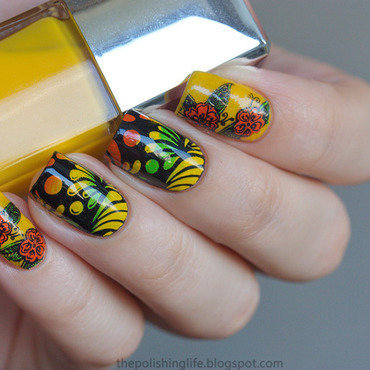 Tropical nails nail art by Alena Belozerova