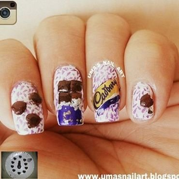 3d Chocolate Nail Art nail art by Uma mathur