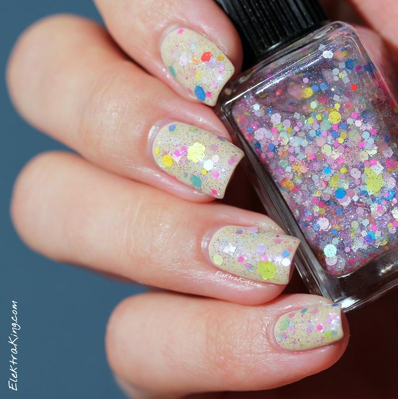 Vain-illa Bunny Nosegay nail art by Elektra King