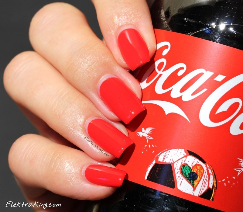 Opi Coca Cola Red Swatch By Elektra King Nailpolis Museum Of Nail Art