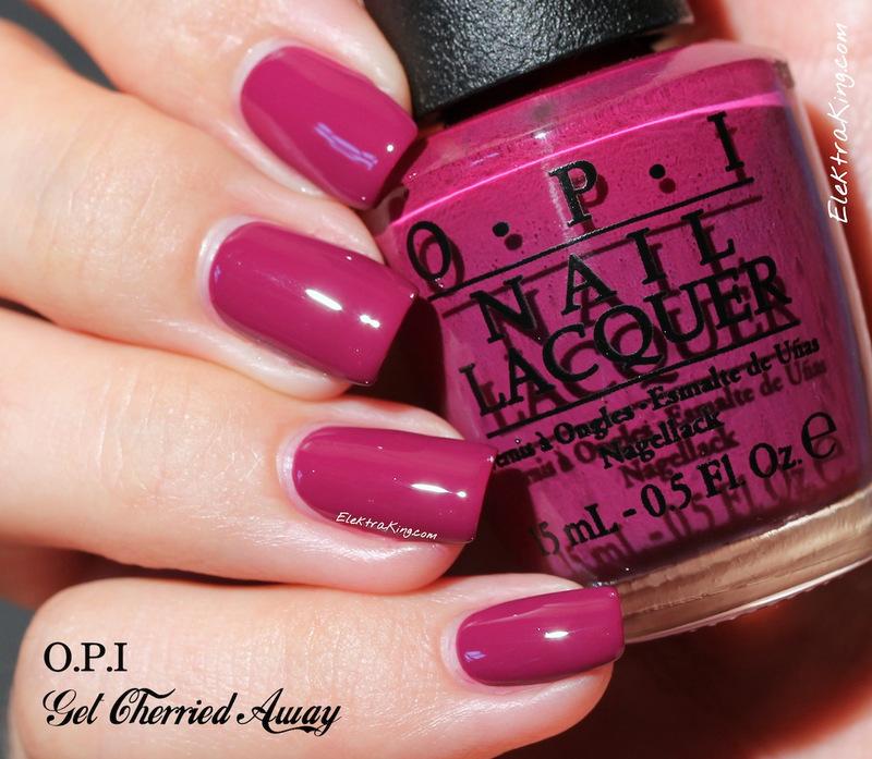 OPI Get Cherried Away Swatch by Elektra King