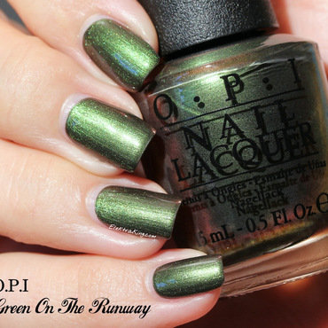 OPI Green On The Runway Swatch by Elektra King