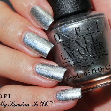 "OPI My Signature Is ""DC"" and OPI Turn On the Haute Light Swatch by Elektra King"
