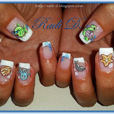 Summer Nails nail art by Radi Dimitrova