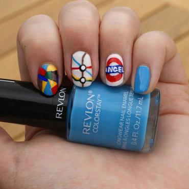 London Underground nail art by Pardon My Nails